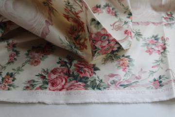 90s Cyrus Clark fabric, Harriett floral cotton chintz shabby chic vintage