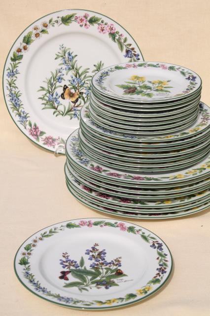 Vintage botanica dinnerware