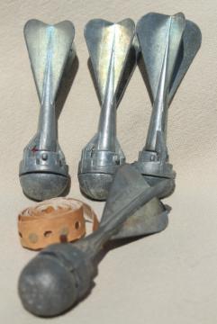 950s toy cap gun grenade bomb vintage metal toys lot of 4 Callen Mfg