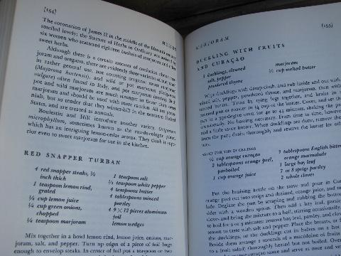 A Matter of Taste, 1960s vintage cookbook, spices and seasonings