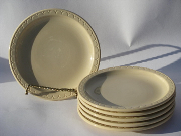 Adobe ware brown restaurant ironstone, sandwich plates, vintage Syracuse china