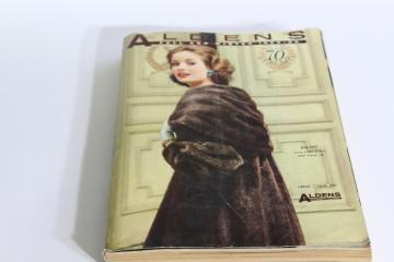 Aldens department store mail order catalog vintage 1959-1960 fall winter big book