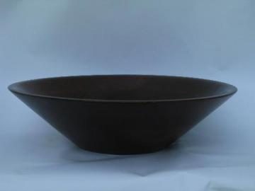 Amana colonies handmade turned black walnut wood bowl