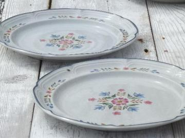 American Patchwork serving plates, International Heritage stoneware Japan