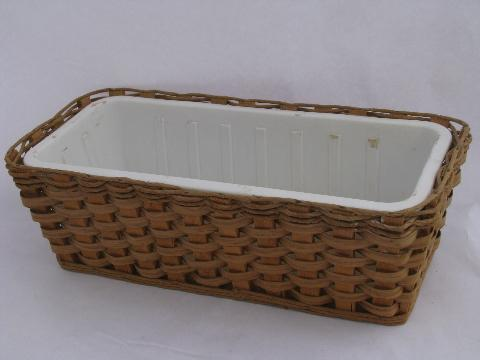 American made Kochbasket flower window box basket w/ heavy plastic planter