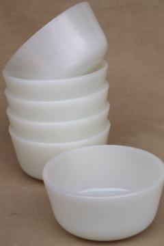 Anchor Hocking Fire King oven proof milk glass baking dishes or custard cups