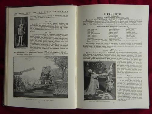 Antique 1919 Victrola Book of Opera / radio catalog w/photos & prices