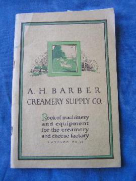 Antique farm catalog dairy or creamery equipment