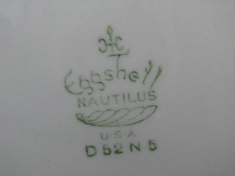 Apple Blossom Vintage Homer Laughlin Eggshell Georgian 10
