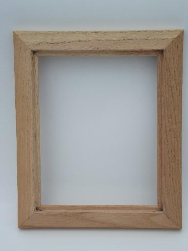 arts crafts vintage carved oak picture frame natural unfinished wood