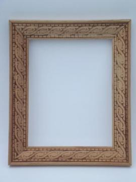 Vintage mirrors pictures frames and prints for Unfinished wood frames for crafts