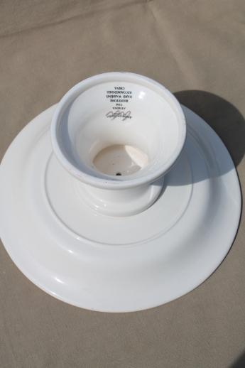 Athena ironstone American Atelier cake stand or compote pedestal bowl