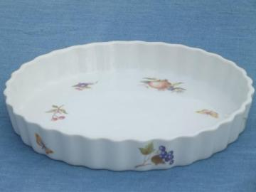BIA Cordon Bleu french quiche fruit tart pan, Frieda Collection china