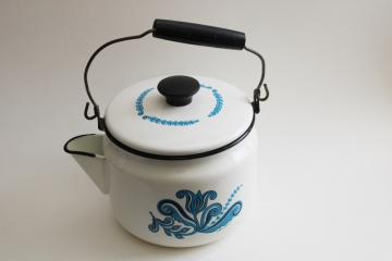 Small Pan Vintage Black and White Speckle Enamelware Graniteware Canning Pot Granite Ware Speckled Pots Enamel Stock Pot Farm Kitchen