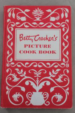 Betty Crocker's Picture Cook Book, 1st edition vintage 1950 Betty Crocker cookbook