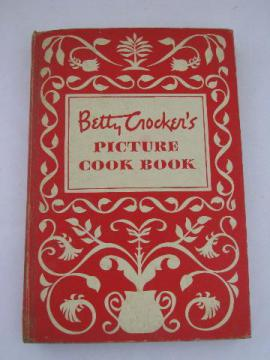 Betty Crocker's Picture Cook Book, vintage 1950, red & white cover
