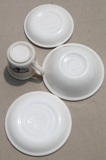 Biltons - England blue onion vintage china breakfast dishes set tea mugs bowls plates & Biltons - England blue onion vintage china breakfast dishes set tea ...