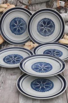 Blue Monterrey stoneware dinner plates set of 6 vintage Japan dinnerware & vintage Nippon and Japan dinnerware \u0026 sets
