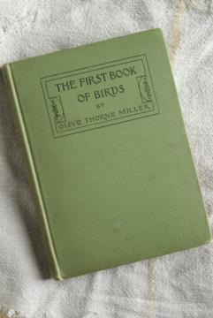 Book of Birds, turn of the century vintage Riverside Press antique tinted color photos