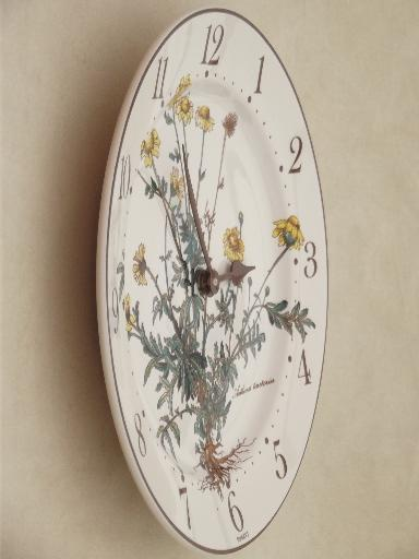 Botanica Villeroy Amp Boch China Plate Wall Clock