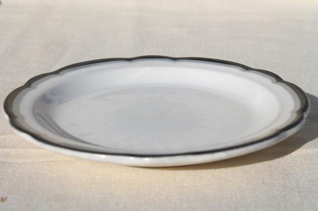 Buffalo china vintage railroad / restaurant ware plates, white ...