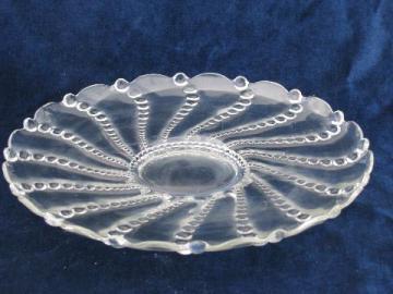 Burple pattern vintage Anchor Hocking glass, large cake plate