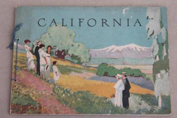 California & Grand Canyon grand tour vintage illustrated guide book dated 1919