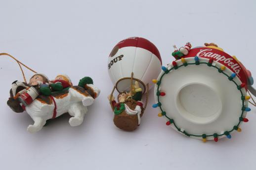 Campbells kids campbell s soup christmas ornaments lot