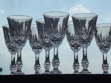 Capri crystal stemware cordials or sherry wine glasses, tiny goblets