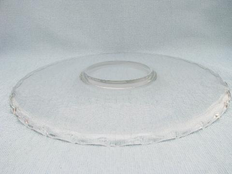 Century pattern vintage Fostoria cake or torte plate, low footed platter