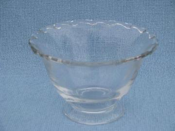 Century pattern vintage Fostoria glass mayonnaise, mayo bowl w/ foot