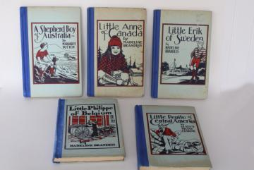 Children of the world story books, 30s 40s vintage photos Sweden Canada Australia etc