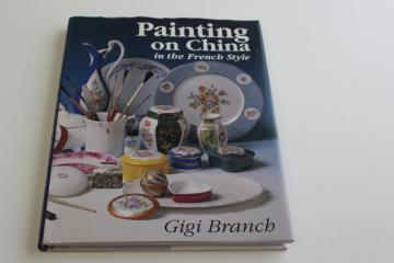 China Painting in the French style, hand painted porcelain illustrated how to book