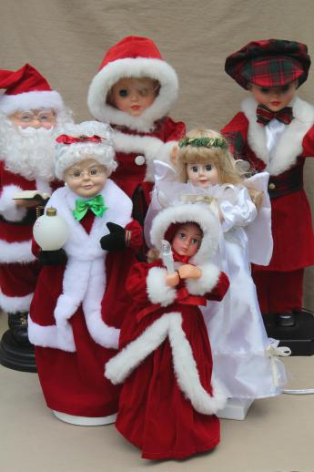 christmas animated figures large moving dolls angel santa for holiday decorations - Moving Christmas Decorations