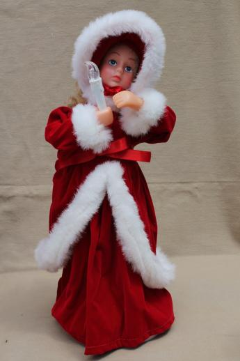 christmas animated figures large moving dolls angel santa for holiday decorations