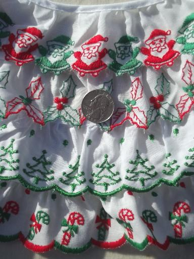Christmas Sewing Trim Lot Eyelet Amp Plaid Ruffle Edgings