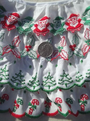 Christmas Sewing Trim Lot Eyelet Amp Plaid Ruffle Edgings