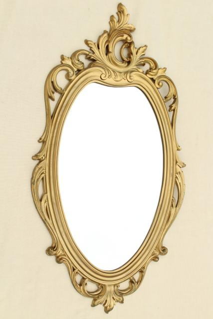 cinderella french brocante style vintage wall mirror gold rococo frame w oval glass