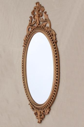 Cinderella french brocante style vintage wall mirror, gold rococo ...