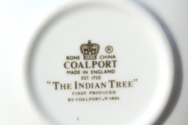 Coalport Indian Tree newer vintage demitasse coffee or chocolate cups