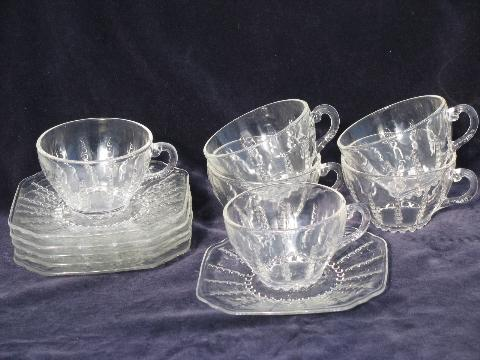 Columbia bubble pattern vintage Federal depression glass ...
