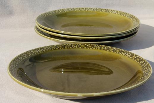 Connemara Celtic vintage Irish Erin green pottery dinnerware dinner plates set & Connemara Celtic vintage Irish Erin green pottery dinnerware dinner ...