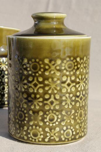 Connemara Celtic Vintage Irish Erin Green Shamrock Pottery