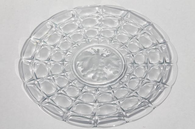Constellation Fruit Intaglio Indiana Glass Round Platter
