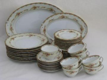 Corinthia vintage Made in Japan dinner service for 8, National china