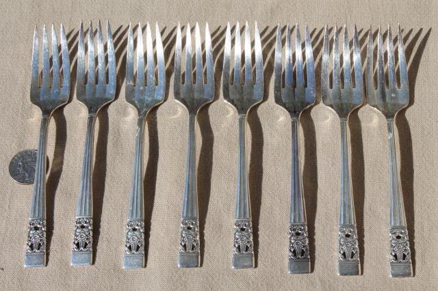 Coronation vintage Oneida Community silver plate flatware set in ...