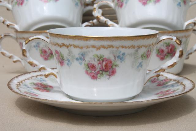 Coronet Limoges Vintage China Bullion Cups Amp Saucers Set