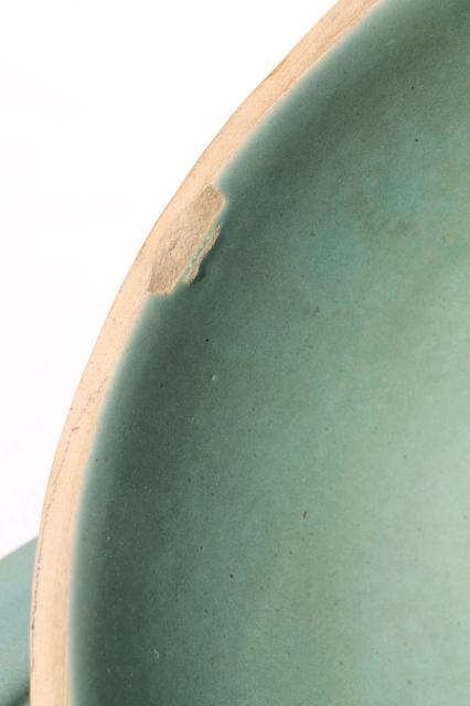 Country Fare Or Red Wing Village Green Stoneware Pottery