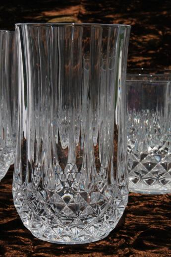 Cristal D Arques Longchamp French Crystal Tumblers High