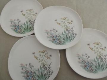 Crooksville Iva-Lure wildflower dinner plates, vintage china dinnerware